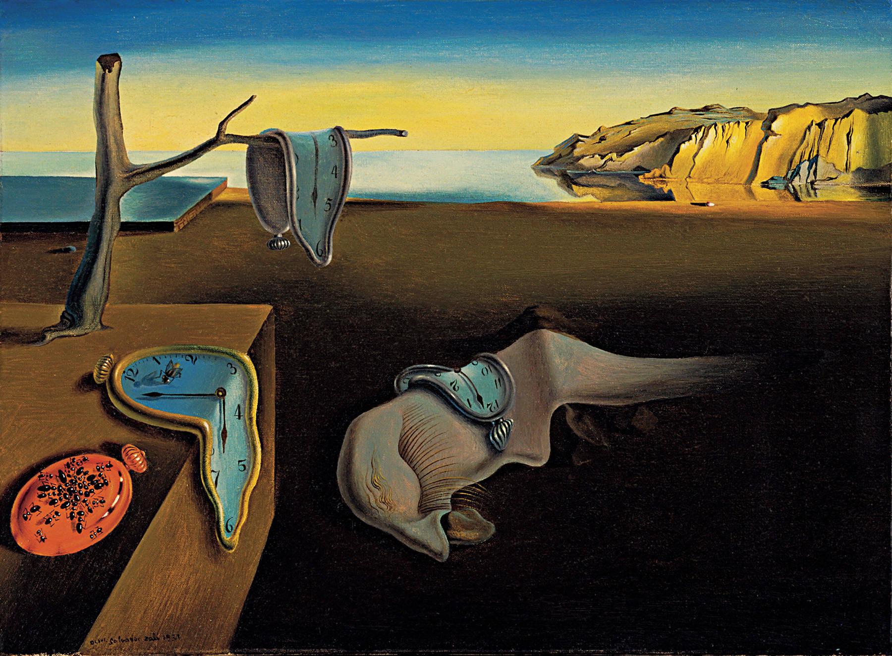 Salvador Dali's famous melting clock painting.